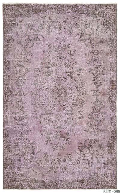 Boyalı El Dokuma Vintage Halı - 169 cm x 272 cm