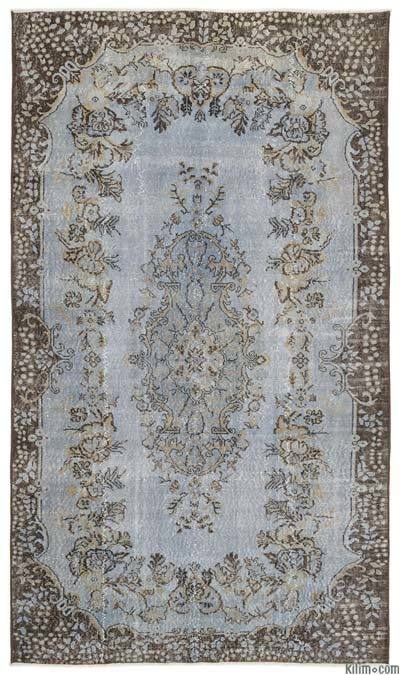"""Turkish Vintage Area Rug - 5'6"""" x 9'7"""" (66 in. x 115 in.)"""
