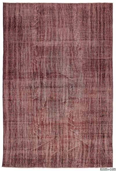 Boyalı El Dokuma Vintage Halı - 220 cm x 333 cm