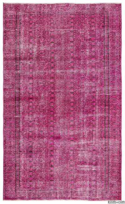 """Over-dyed Turkish Vintage Rug - 5'7"""" x 9'5"""" (67 in. x 113 in.)"""