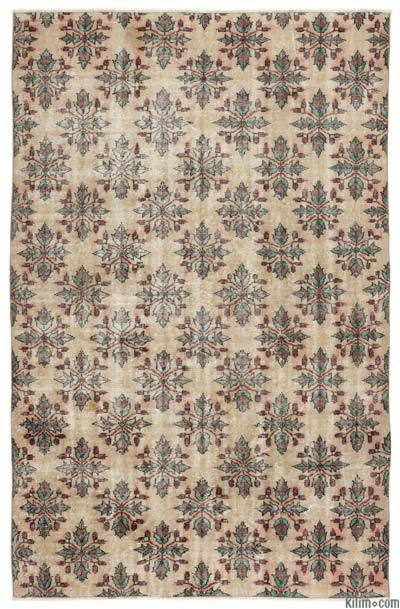 "Turkish Vintage Area Rug - 5'6"" x 8'9"" (66 in. x 105 in.)"