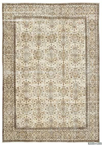 "Turkish Vintage Area Rug - 6'11"" x 9'9"" (83 in. x 117 in.)"