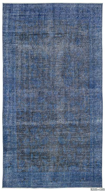 """Over-dyed Turkish Vintage Rug - 5'9"""" x 10'9"""" (69 in. x 129 in.)"""