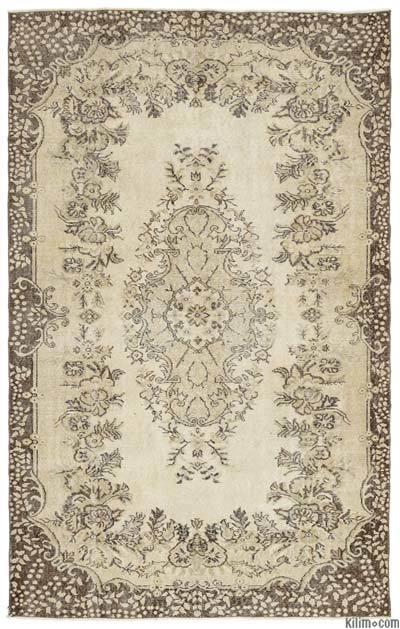 "Over-dyed Turkish Vintage Rug - 5'10"" x 9'4"" (70 in. x 112 in.)"