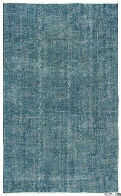 """Over-dyed Turkish Vintage Rug - 5'5"""" x 8'11"""" (65 in. x 107 in.)"""