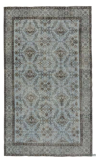 "Over-dyed Turkish Vintage Rug - 4'10"" x 8'4"" (58 in. x 100 in.)"