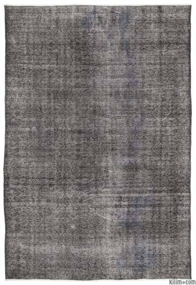 """Over-dyed Turkish Vintage Rug - 6'2"""" x 9' (74 in. x 108 in.)"""