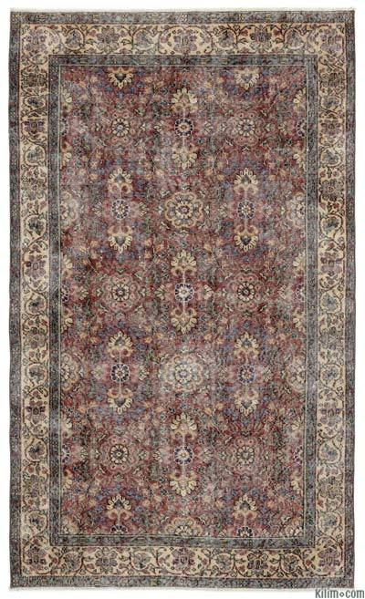 "Turkish Vintage Area Rug - 4'9"" x 8' (57 in. x 96 in.)"