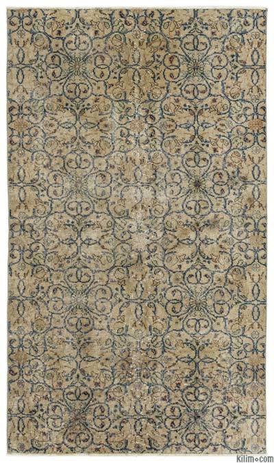 El Dokuma Vintage Halı - 116 cm x 200 cm
