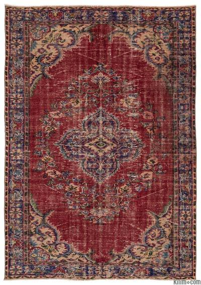 """Turkish Vintage Area Rug - 6'3"""" x 8'11"""" (75 in. x 107 in.)"""