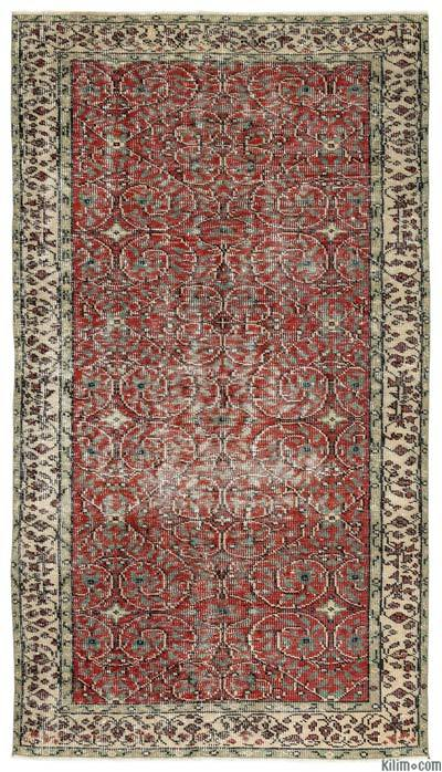 "Turkish Vintage Area Rug - 4'6"" x 8'1"" (54 in. x 97 in.)"