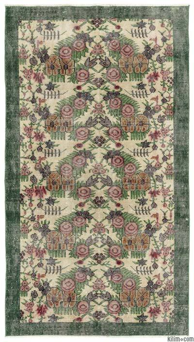 "Turkish Vintage Area Rug - 3'9"" x 6'8"" (45 in. x 80 in.)"