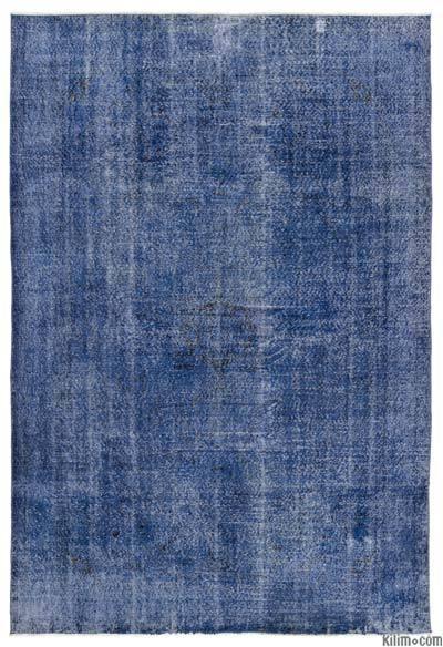 Boyalı El Dokuma Vintage Halı - 205 cm x 304 cm