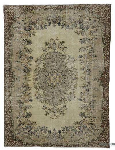 "Turkish Vintage Area Rug - 6' 5"" x 8' 5"" (77 in. x 101 in.)"