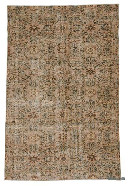 "Turkish Vintage Area Rug - 5'10"" x 8'7"" (70 in. x 103 in.)"