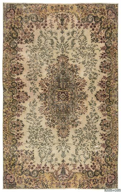 "Turkish Vintage Area Rug - 5'4"" x 8'9"" (64 in. x 105 in.)"