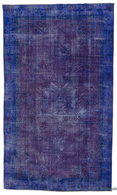 """Over-dyed Turkish Vintage Rug - 5'9"""" x 9'8"""" (69 in. x 116 in.)"""