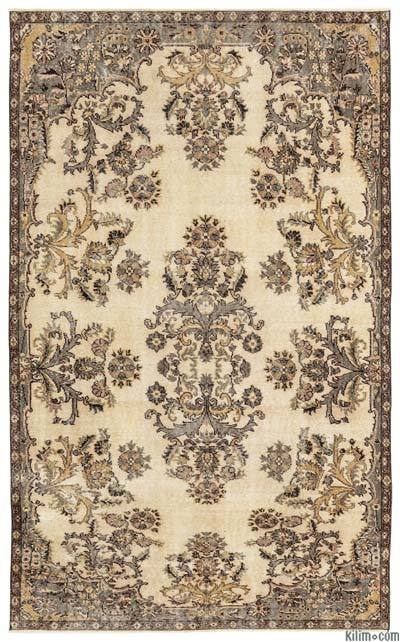 """Turkish Vintage Area Rug - 5'5"""" x 8'10"""" (65 in. x 106 in.)"""