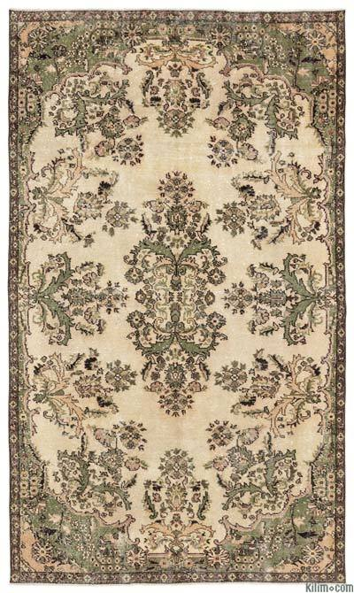 """Turkish Vintage Area Rug - 5'10"""" x 9'11"""" (70 in. x 119 in.)"""