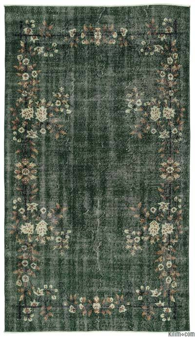 """Turkish Vintage Area Rug - 5'1"""" x 9'2"""" (61 in. x 110 in.)"""