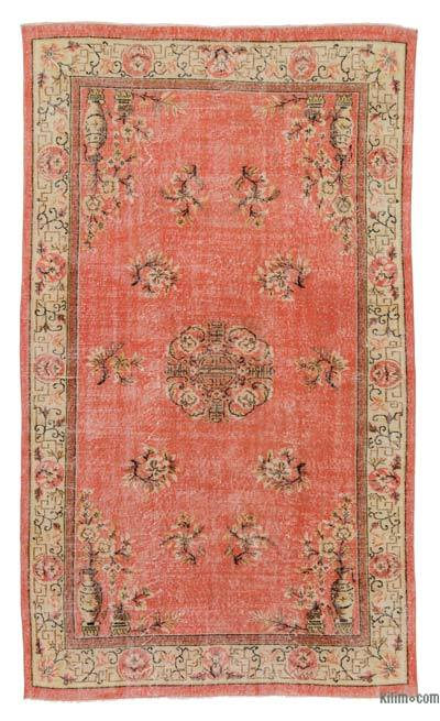 """Turkish Vintage Area Rug - 5' 5"""" x 9' 2"""" (65 in. x 110 in.)"""
