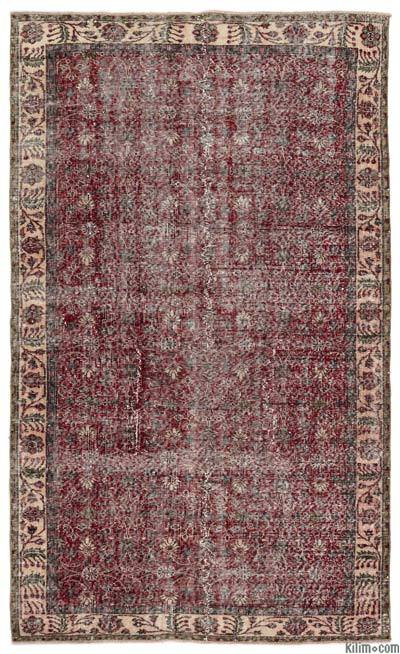 """Turkish Vintage Area Rug - 5'3"""" x 8'7"""" (63 in. x 103 in.)"""