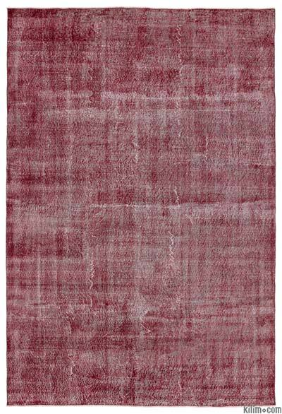 """Over-dyed Turkish Vintage Rug - 6'9"""" x 10'1"""" (81 in. x 121 in.)"""