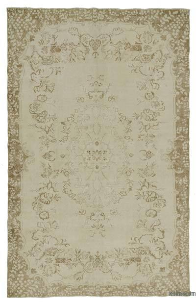 "Over-dyed Turkish Vintage Rug - 6'6"" x 10'1"" (78 in. x 121 in.)"