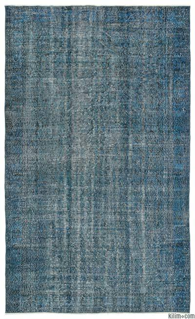 """Over-dyed Turkish Vintage Rug - 5'8"""" x 9'6"""" (68 in. x 114 in.)"""