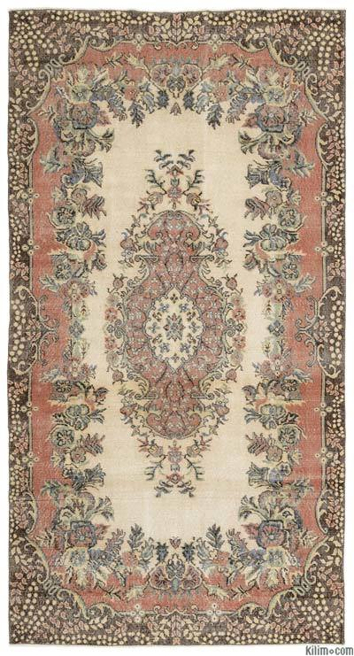 """Turkish Vintage Area Rug - 5'5"""" x 10'2"""" (65 in. x 122 in.)"""