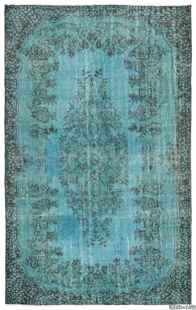 Boyalı El Dokuma Vintage Halı - 172 cm x 283 cm