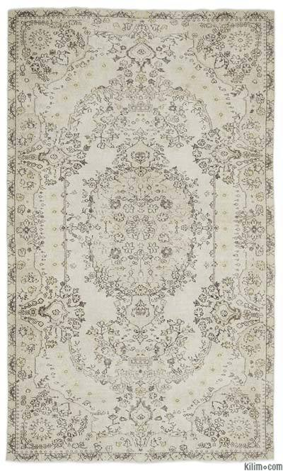 """Over-dyed Turkish Vintage Rug - 5'6"""" x 9'5"""" (66 in. x 113 in.)"""