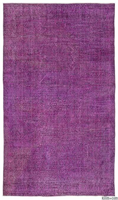Alfombra Turca Vintage Sobre-teñida - 151 cm x 262 cm