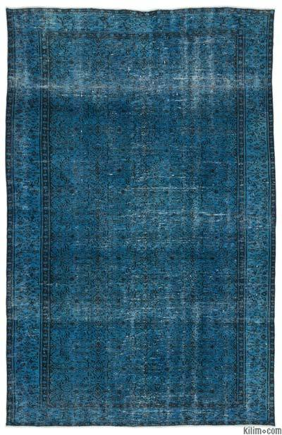 """Over-dyed Turkish Vintage Rug - 5'8"""" x 8'7"""" (68 in. x 103 in.)"""