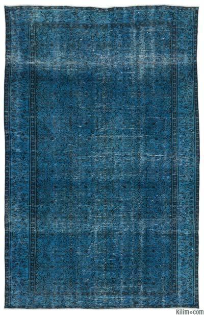 Boyalı El Dokuma Vintage Halı - 172 cm x 262 cm