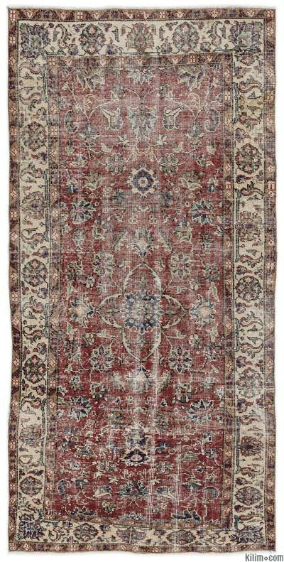 """Turkish Vintage Area Rug - 3'5"""" x 7'2"""" (41 in. x 86 in.)"""