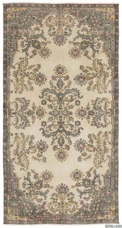 "Turkish Vintage Area Rug - 3'9"" x 7'2"" (45 in. x 86 in.)"