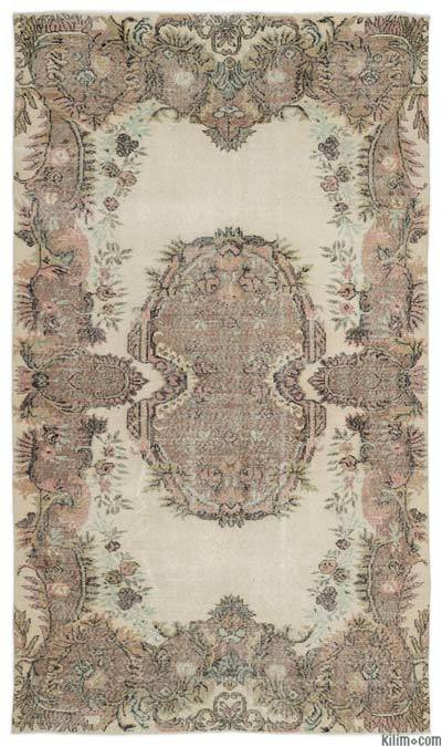 """Turkish Vintage Area Rug - 5'5"""" x 9'5"""" (65 in. x 113 in.)"""