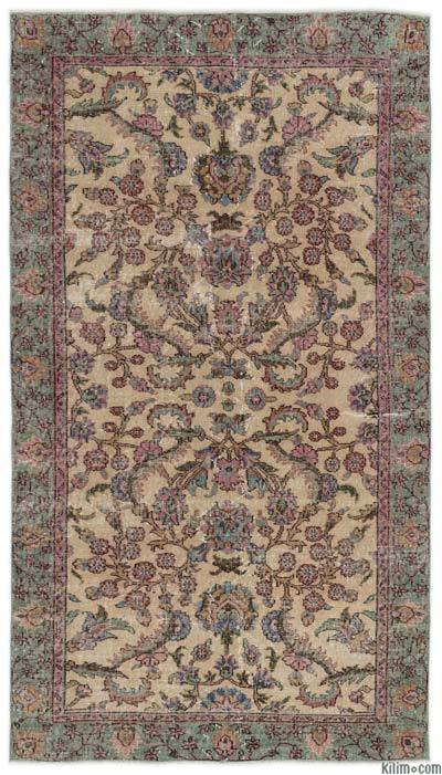 """Turkish Vintage Area Rug - 4'3"""" x 7'7"""" (51 in. x 91 in.)"""