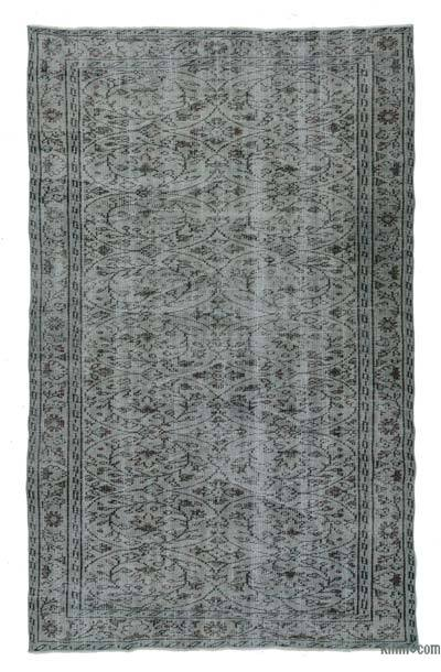 """Over-dyed Turkish Vintage Rug - 5'  x 8' 1"""" (60 in. x 97 in.)"""