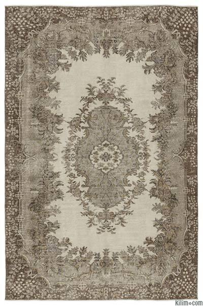 "Over-dyed Turkish Vintage Rug - 6'4"" x 9'6"" (76 in. x 114 in.)"