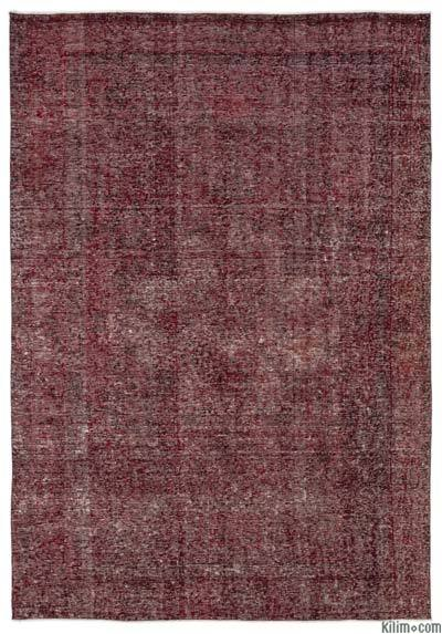 """Over-dyed Turkish Vintage Rug - 6'4"""" x 9'3"""" (76 in. x 111 in.)"""