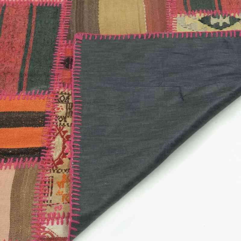 Kırmızı Patchwork Kilim - K0015185