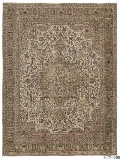 "Vintage Hand-knotted Oriental Rug - 9'6"" x 12'8"" (114 in. x 152 in.)"