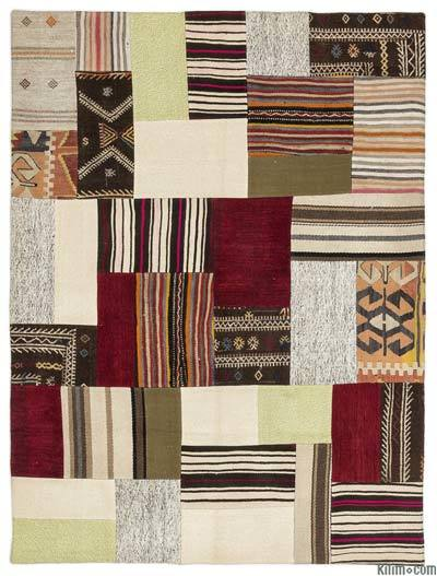 "Turkish Kilim Patchwork Rug - 4'11"" x 6'8"" (59 in. x 80 in.)"