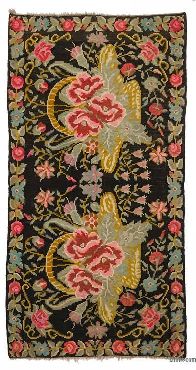 Vintage Moldavian Kilim Rug