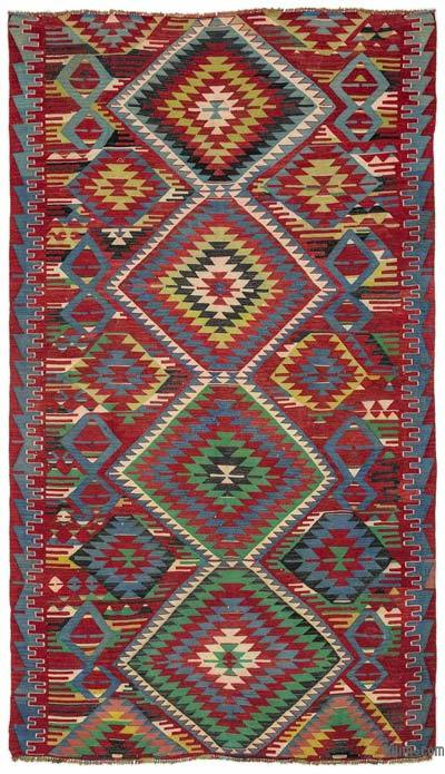 "Turkish Vintage Kilim Rug - 5' 3"" x 9' 4"" (63 in. x 112 in.)"