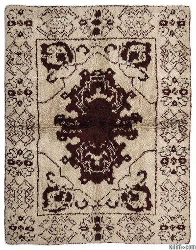"Vintage Turkish Tulu Rug - 5'5"" x 6'11"" (65 in. x 83 in.)"