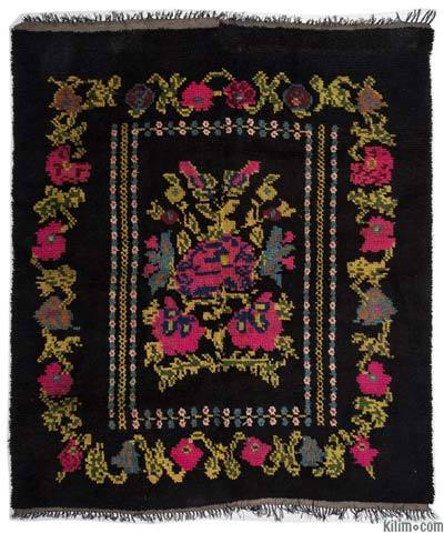 "Vintage Turkish Tulu Rug - 5'7"" x 6'6"" (67 in. x 78 in.)"