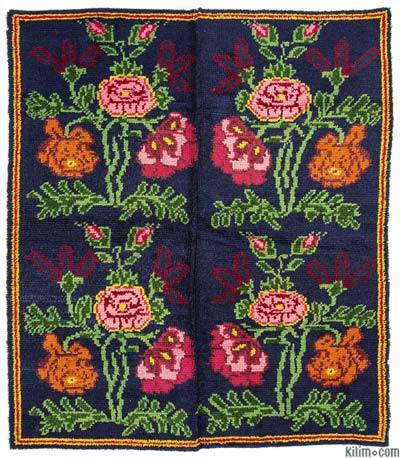 "Vintage Turkish Tulu Rug - 5'7"" x 6'3"" (67 in. x 75 in.)"